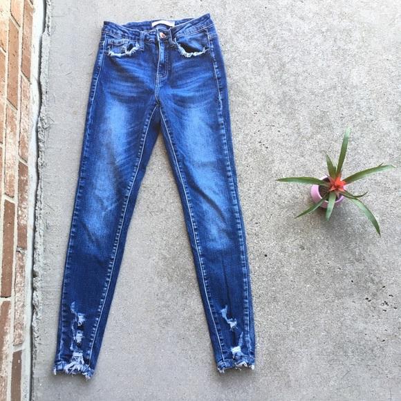 c370cb204e4 KanCan Denim - KanCan Denim Distressed Ripped Skinny Jeans 25